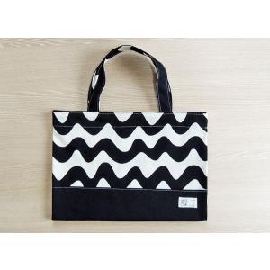 なみボーダー帆布のバッグ型ブックカバー(ツートン) Made in Japan|kamitonuno|02