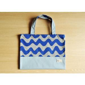 なみボーダー帆布のバッグ型ブックカバー(ツートン) Made in Japan|kamitonuno|06