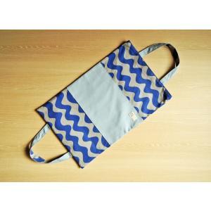 なみボーダー帆布のバッグ型ブックカバー(ツートン) Made in Japan|kamitonuno|08