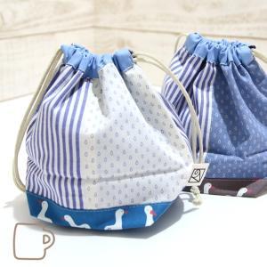 コップ袋サイズの巾着 (アヒルとしずく)|kamitonuno