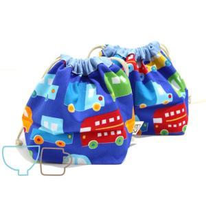 ぷっくり!お弁当袋&コップ袋セット (日本製コットン・TOY CARS)|kamitonuno