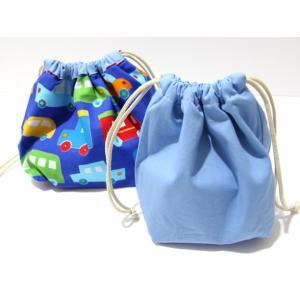 ぷっくり!お弁当袋&コップ袋セット (日本製コットン・TOY CARS)|kamitonuno|02