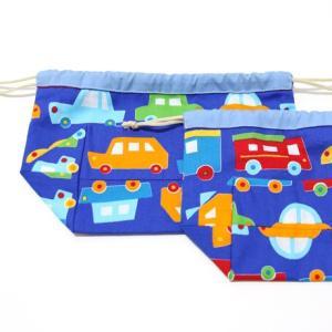 ぷっくり!お弁当袋&コップ袋セット (日本製コットン・TOY CARS)|kamitonuno|05
