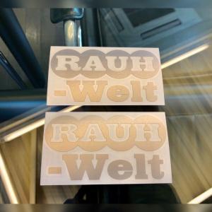 RWB 丸 RAUH-Welt ステッカー 2枚組 シルバー|kamiwaza-japan