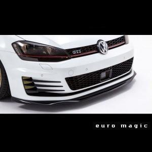 Euro Magic Volkswagen Golf7 フロントリップスポイラー FRP|kamiwaza-japan