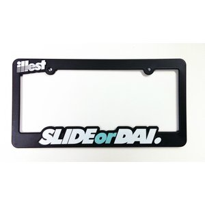 SLIDE OR DAI LICENSE PLATE FRAME|kamiwaza-japan