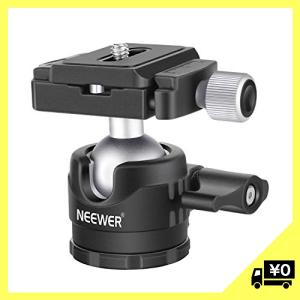 Neewer ロープロファイルボールヘッド 360度回転式三脚ヘッド DSLRカメラ、三脚、一脚に対...