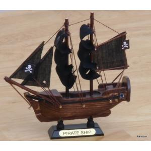 木製帆船組立キット 海賊船 12センチ|kamizen