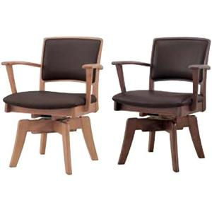 肘付き回転食堂椅子 CCM3 081A 張地FPBR(ブラウン)|kamizen