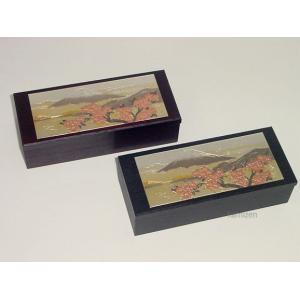 彫金付き小物入れ「富士山と桜花」|kamizen