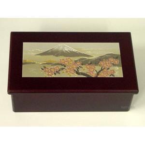 彫金付きメガネケース「富士山と桜花」|kamizen