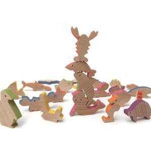 木製ブロックシリーズ 「Sea/シー(海の生き物)」|kamizen