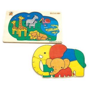 木製パズル  「どうぶつ親子」|kamizen