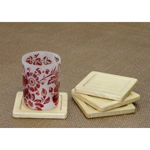 セン無垢材のコースター kamizen
