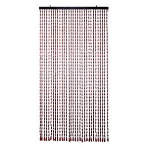 珠暖簾(玉のれん) タッセル式 170cm丈 ライトブラウン|kamizen