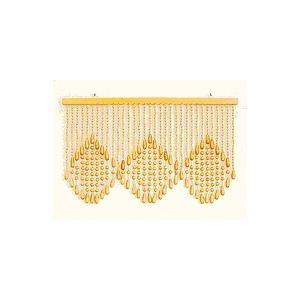 珠暖簾(玉のれん)A-150 ベージュ色|kamizen