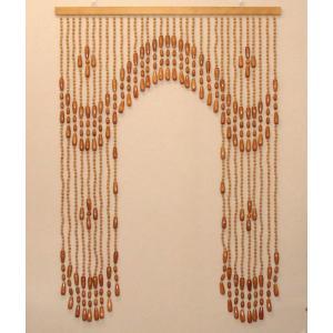 珠暖簾(玉のれん)A-8512  ベージュ色|kamizen