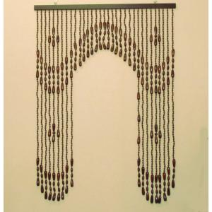 珠暖簾(玉のれん)A-8512  ブラウン色|kamizen