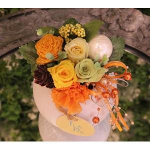 〜フラプリ〜 『スマイルエンジェル』(フラアート花門 プリザーブド) 花 ギフト 誕生日 プレゼント フラワー お祝い 記念日 結婚祝い 送料無料 あすつく|kamon-hanay