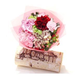 5月の花束:カーネーション<新横浜製作> 花 ギフト 誕生日 プレゼント フラワー ギフト ブーケ お祝い 記念日 結婚 退職 送別 送料無料 あすつく kamon-hanay