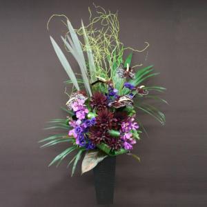 花 ギフト 開店祝い フロレアル フェリシテ(ラインアレンジ)Eタイプ 《床置きタイプ》(6色から選べます!) 送料無料 誕生日 お花 バラ プレゼント|kamon-hanay
