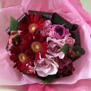 花 ギフト 誕生日 フラアート花門 カジュアルブーケ Mサイズ(4色から選べます!) あす楽 送料無料 花束 ブーケ バラ お花 フラワー プレゼント フラワーギフト|kamon-hanay
