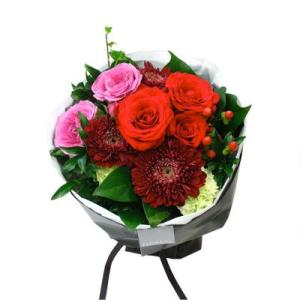 ブーケロン Bタイプ (レッド) 花 ギフト 誕生日 プレゼント フラワー ギフト 花束 ブーケ お祝い 記念日 結婚祝い 退職祝い 送別 送料無料 あすつく|kamon-hanay