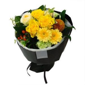 ブーケロン Bタイプ (オレンジ&イエロー) 花 ギフト 誕生日 プレゼント フラワー ギフト 花束 ブーケ お祝い 記念日 退職祝い 送別 送料無料 あすつく|kamon-hanay