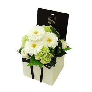 シャンパーニュ Aタイプ(グリーン&白) フォトメモリーサービス選択付 花 ギフト 誕生日 プレゼント フラワー ギフト お祝い 記念日 送料無料 あすつく|kamon-hanay
