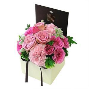 シャンパーニュ Bタイプ(ピンク) フォトメモリーサービス選択付 花 ギフト 誕生日 プレゼント フラワー ギフト アレンジ お祝い 記念日 送料無料 あすつく|kamon-hanay
