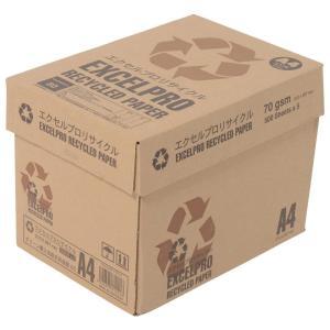 コピー用紙 A4 エクセルプロリサイクル 白色度82% 紙厚0.09mm 2500枚(500×5) 再生紙 グリーン購入法総合評価値80 A|kamoshika