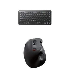 エレコム 無線超薄型ミニキーボード TK-FDP098TBK & エレコム ワイヤレストラックボール(左手・親指操作タイプ) M-XT4DR|kamoshika