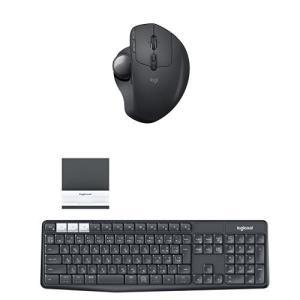 ロジクール ワイヤレス トラックボール/Bluetooth キーボード (スタンド付属) セット MXTB1s + K370s|kamoshika