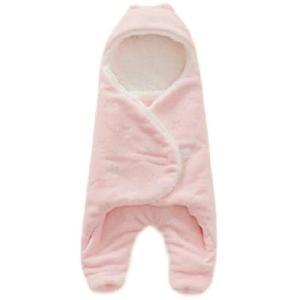 あったか ふわふわ ボア おくるみ 赤ちゃん 新生児 防寒 冬 (ピンク)