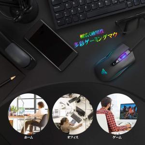 ゲーミングマウス?有線 ゲーマーマウス 光学式 マウス ?日本語ドライバー付き 4段階DPI調節可能...