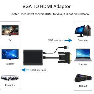 VGA to HDMI 変換ケーブル Vilcome 金メッキVGA→HDMI 出力 ビデオ変換アダプタVGA to HDMIコンバーター|kamoshika