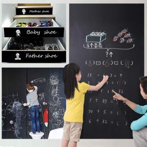 Wooce 黒板シート 壁に貼れる黒板 ブラックボードシート 貼り付け簡単 書きやすくて消しやすい ...