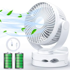 2019年最新製品USB扇風機 卓上扇風機 充電式 クリップ ファン 超静音 大風量 5000mA ...