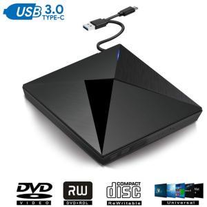 2019年最新版WiNo USB3.0 DVDドライブ 外付け ポータブル スーパーマルチドライブ ...