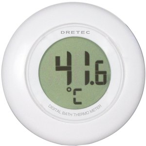 ドリテック(dretec) デジタル湯温計 ホワイト O-227WT
