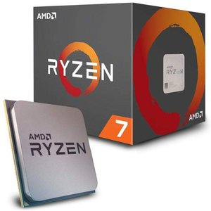 AMD CPU Ryzen 7 2700 with Wraith Spire (LED) coole...