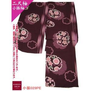 洗える着物 F02 小振袖 二尺袖 M.Lサイズ 裏地あり 袴スタイルに|kamoya529