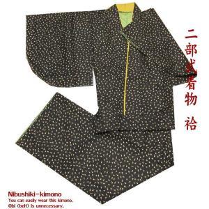 二部式着物 A29 洗える着物 ツーピース着物 M L セパレート着物 袷|kamoya529