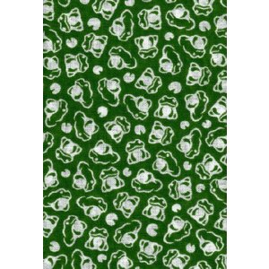 手拭い 小紋柄 手ぬぐい 小紋 柄06 カエル ミドリ 和手ぬぐい 手拭 日本製 粗品 ギフト プレゼント クリックポスト対応|kamoya529