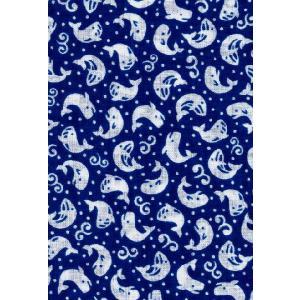 手拭い 小紋柄 手ぬぐい 小紋 柄09 クジラ アオ 和手ぬぐい 手拭 日本製 粗品 ギフト プレゼント メール便対応 kamoya529