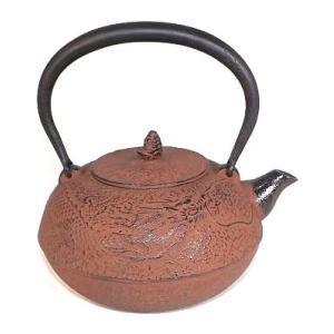 鉄瓶 南部鉄器 雲竜(茶) 1.4L|kana7