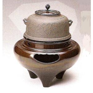 茶道具 風炉セット 1-2 朝鮮都色 無地釜付