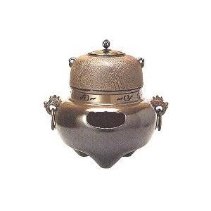 茶道具 風炉セット 1-3 鬼面都色 竹地紋釜付