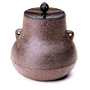 茶道具 小釜 富士釜 浜松地紋12-7