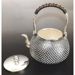 銀製新型 銀瓶 アラレ 日本製 4.7寸 約1.1L|kana7